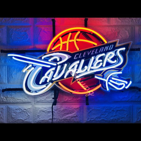 Desung Cleveland Cavaliers (Sports - Baseball) vivid neon sign, front view, turned on