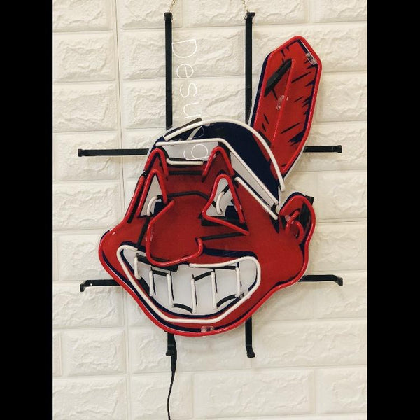Desung Cleveland Indians (Sports - Baseball) vivid neon sign, front view, turned off