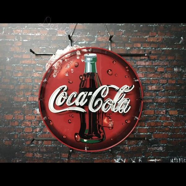 Desung Coca Cola (Business - Drink) vivid neon sign, front view, turned off