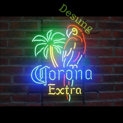 Desung Corona Extra Parrot Palm Tree (Alcohol - Beer) Neon Sign