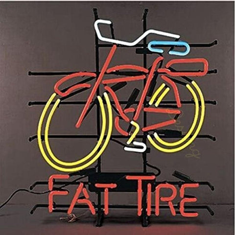 Desung Fat Tire Bike Bicycle (Alcohol - Beer) Neon Sign