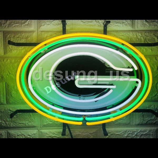 Desung Green Bay Packers (Sports - Football) vivid neon sign