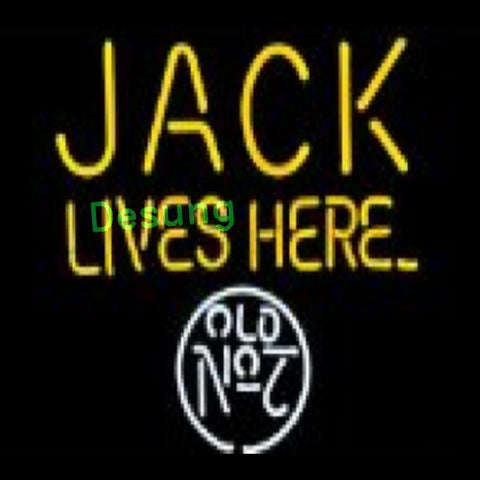 Desung Jack Lives Here Old No 7 (Alcohol - Beer) Neon Sign