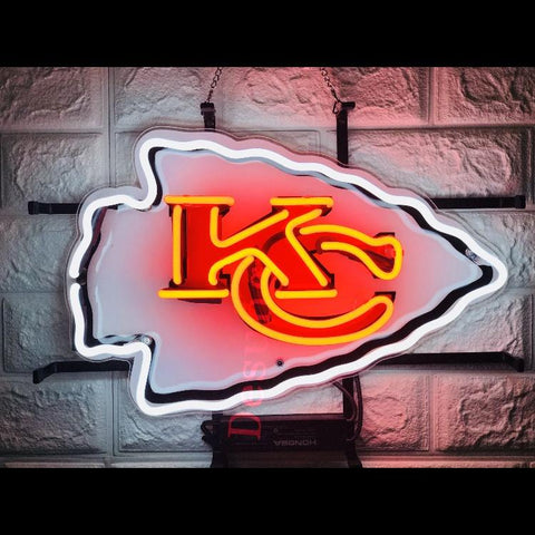 Desung Kansas City Chiefs (Sports - Football) vivid neon sign, front view, turned on