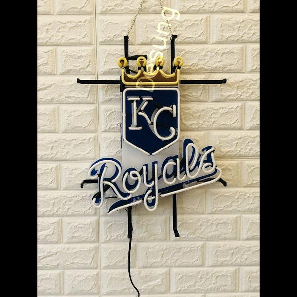 Desung Kansas City Royals (Sports - Baseball) vivid neon sign, front view, turned off
