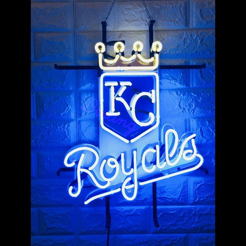 Desung Kansas City Royals (Sports - Baseball) vivid neon sign, front view, turned on