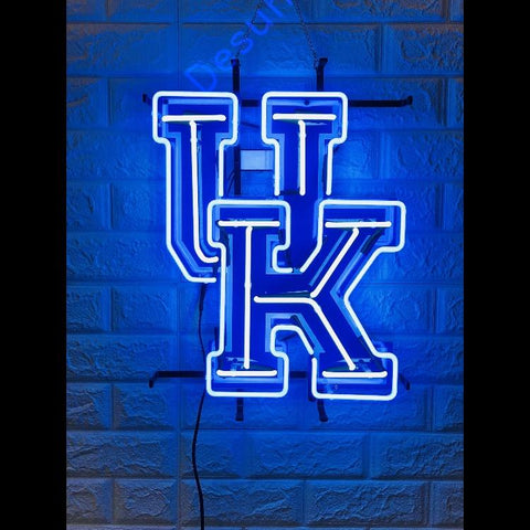 Desung Kentucky Wildcats (Sports - Basketball) vivid neon sign, front view, turned on