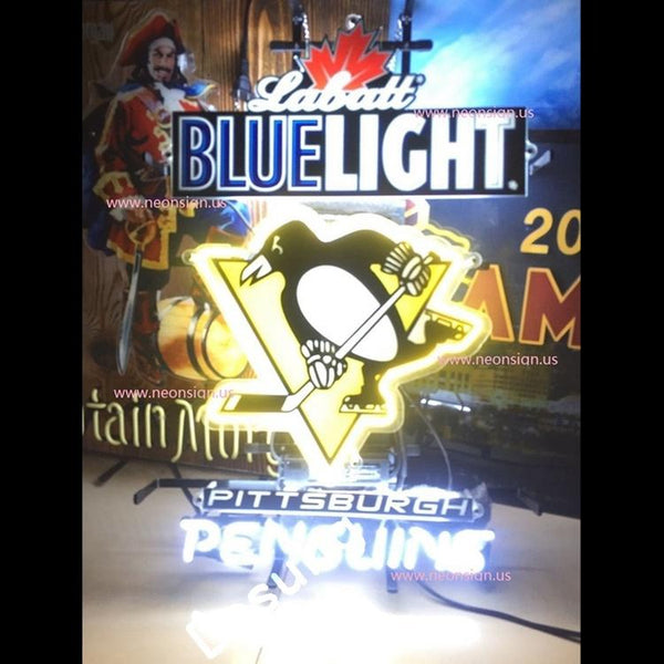 Desung Labatt Blue Light Pittsburgh Penguins (Alcohol Sports Beer Hockey) Vivid Neon Sign