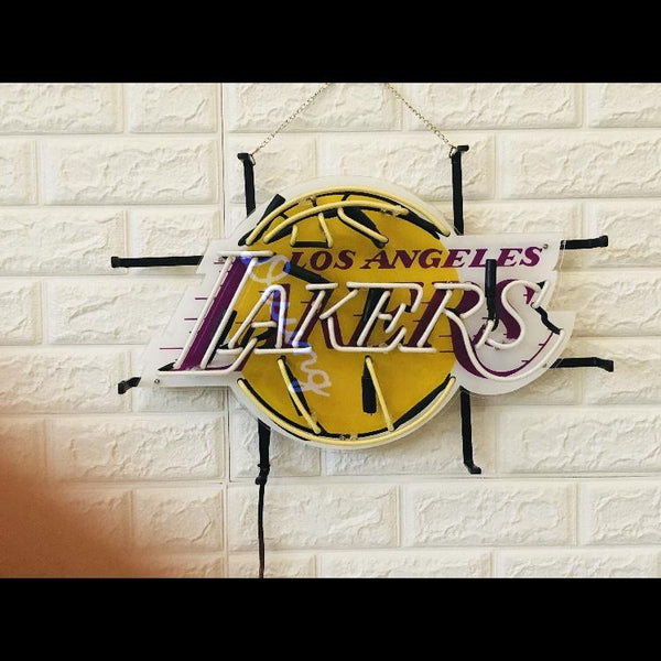 Desung Los Angeles Lakers (Sports - Basketball) vivid neon sign, front view, turned off