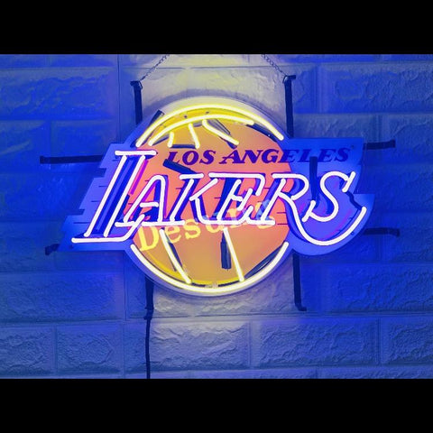 Desung Los Angeles Lakers (Sports - Basketball) vivid neon sign, front view, turned on