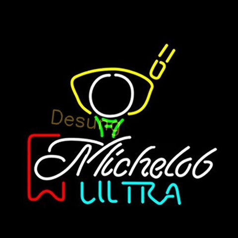 Desung Michelob Ultra Red Ribbon Pga Golf (Alcohol - Beer) Neon Sign