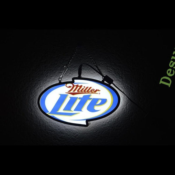 Miller Lite DOUBLE SIZED light emitting alcohol beer bar LED sign