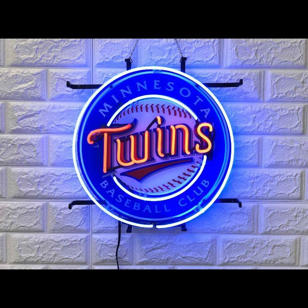 Desung Minnesota Twins (Sports - Baseball) vivid neon sign, front view, turned on