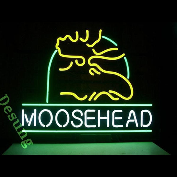 MooseHead Lager Alcohol Beer Neon Sign