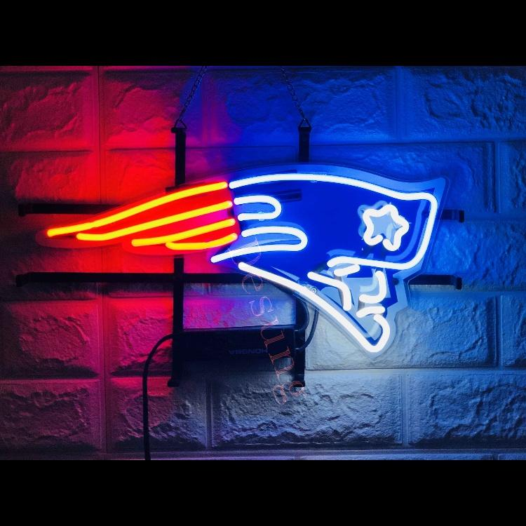 New England Patriots Super Bowl Football Light Lamp Neon Sign with HD Vivid  Printing