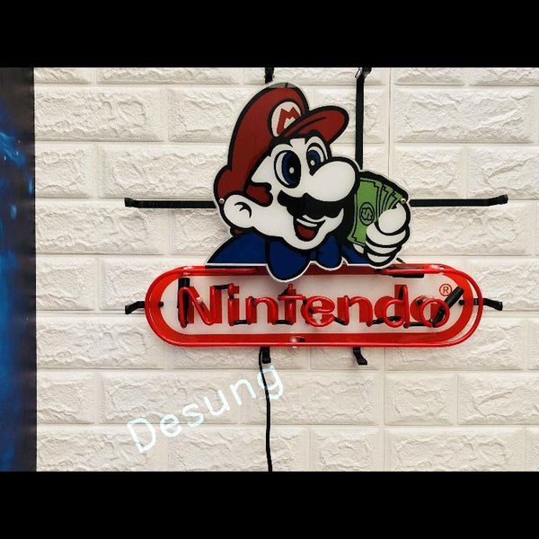 Desung Nintendo (Business - Arcade) vivid neon sign, front view, turned off