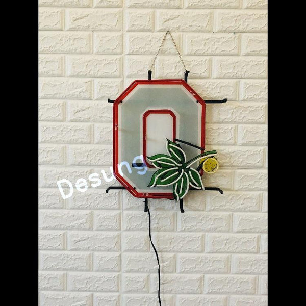Desung Ohio State Buckeyes (Sports - Football) vivid neon sign, front view, turned off