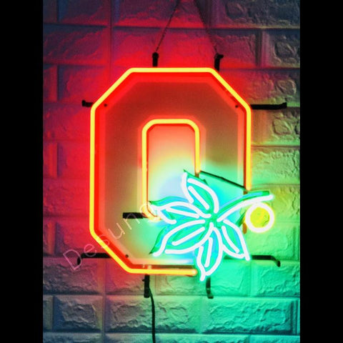 Desung Ohio State Buckeyes (Sports - Football) vivid neon sign, front view, turned on
