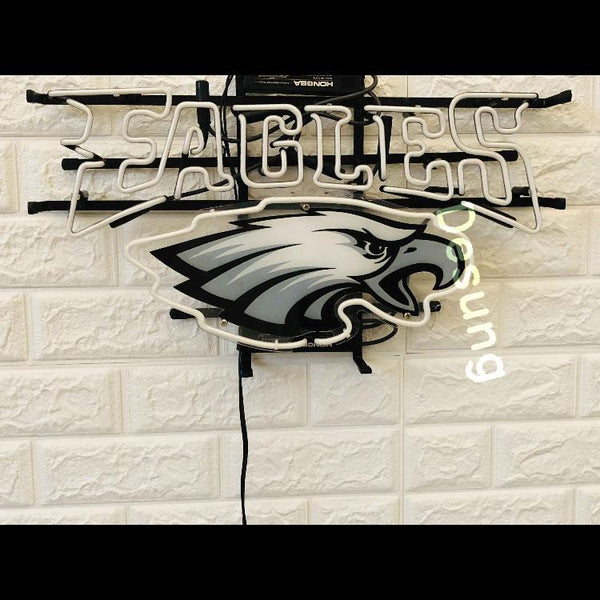 Desung Philadelphia Eagles (Sports - Football) vivid neon sign, front view, turned off