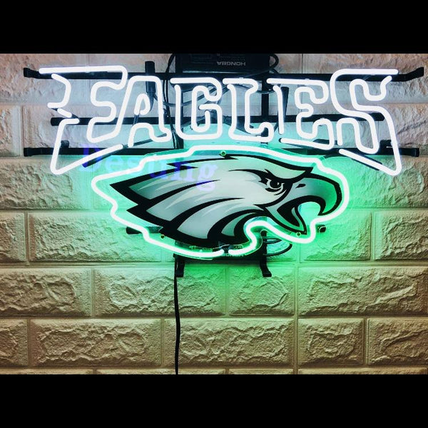 Desung Philadelphia Eagles (Sports - Football) vivid neon sign, front view, turned on