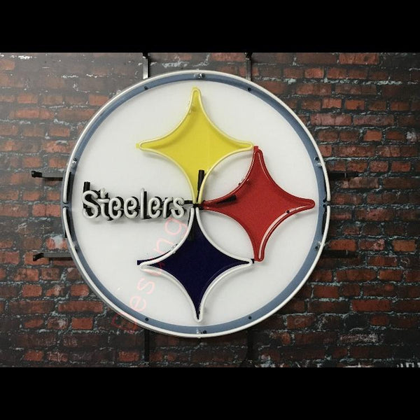 Desung Pittsburgh Steelers (Sports - Football) vivid neon sign, front view, turned off