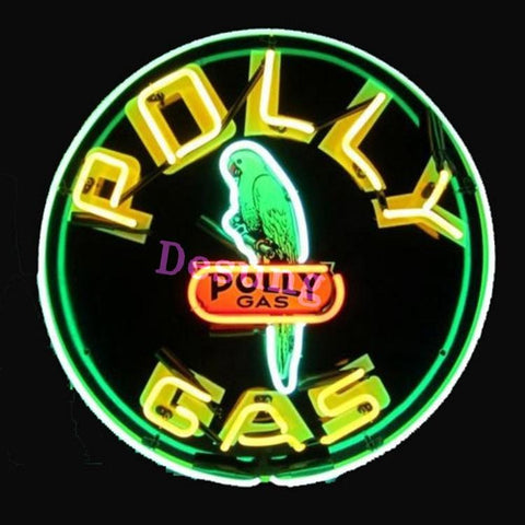 Polly Gas Large Business Gas Station Neon Sign