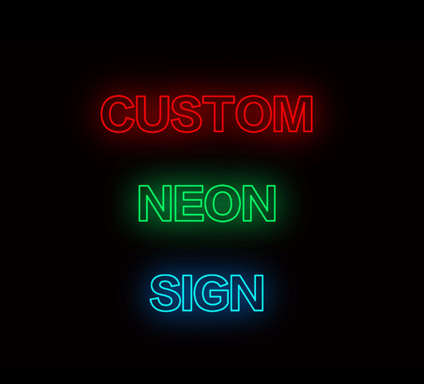 Personalizable Customizable Neon Sign Light Lamp Wall Decor