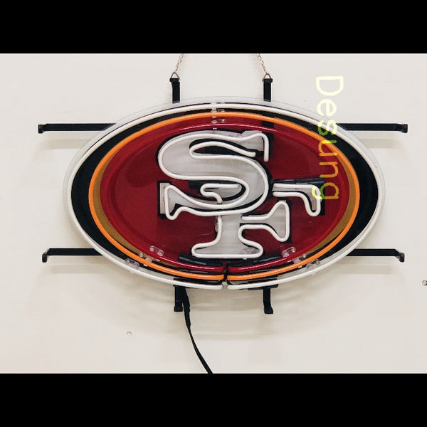 Desung San Francisco 49ers (Sports - Football) vivid neon sign, front view, turned off