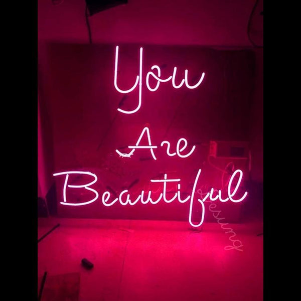 Desung You Are Beautiful (Personal) bedroom wall art neon sign