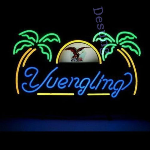 Desung Yuengling Eagle Palm Tree Beer Lager Bar Man Cave (Alcohol - Beer) Neon Sign