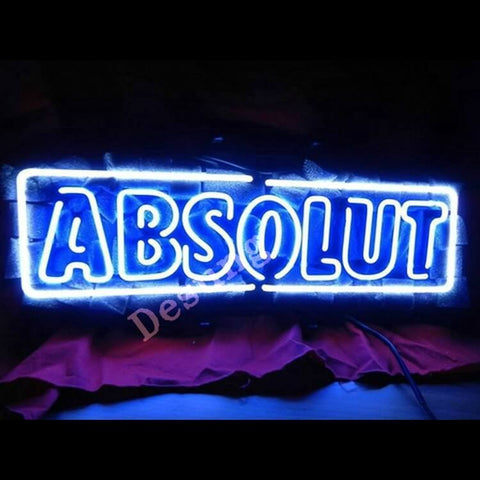 "Desung Absolut Vodka Neon Sign alcohol 118OT174ABN  1687  18""  bar  vodka"