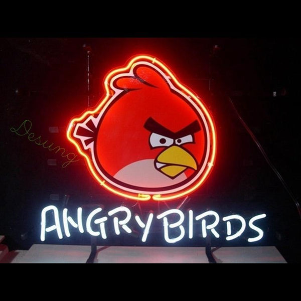 "Desung Angry Birds Games Neon Sign business 120OT345BGN 1858 20"" arcade"