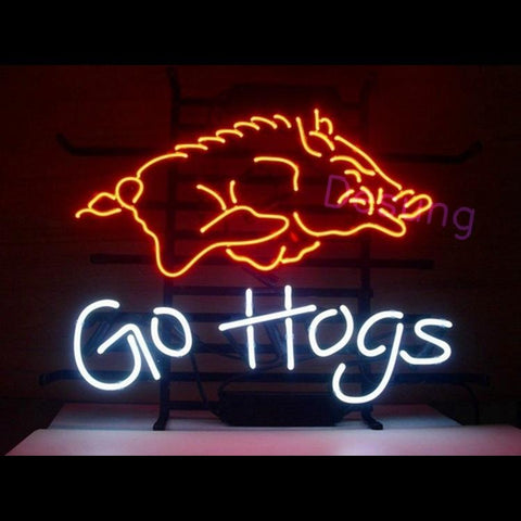 "Desung Arkansas Razorbacks Go Hogs Neon Sign sports 120SP351ARG 1864 20"" football"