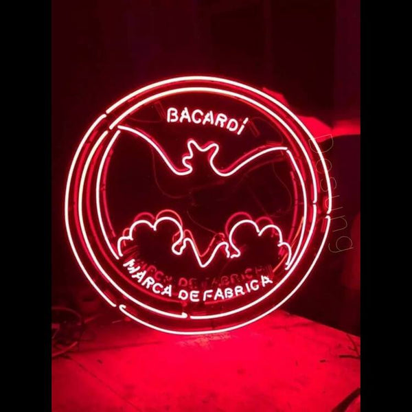 "Desung Bacardi Neon Sign alcohol 118WS367BAC  1880  18""  bar  rum"