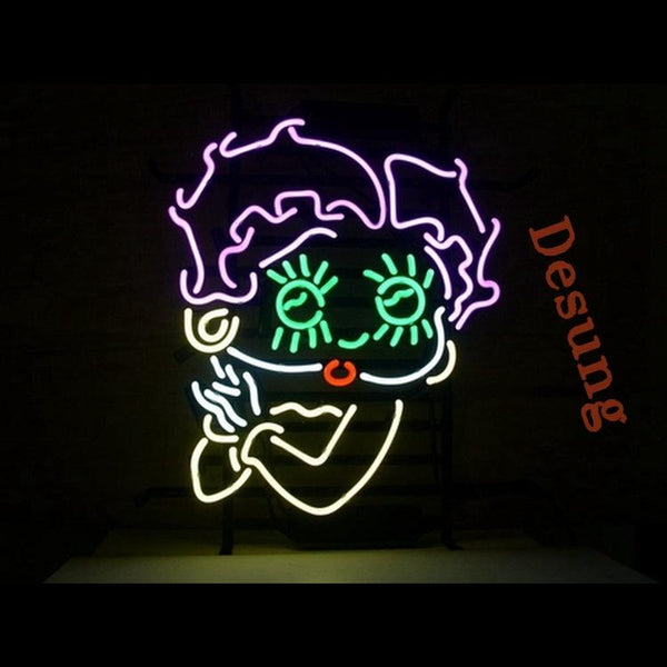 Desung Betty Boop Girl Neon Sign personal 118OT109BBG 1622 18""