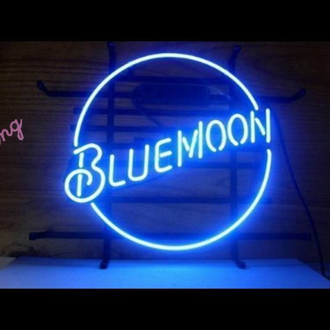 "Desung Blue Moon Lager Neon Sign alcohol 120BR321BML  1834  20""  bar  beer"
