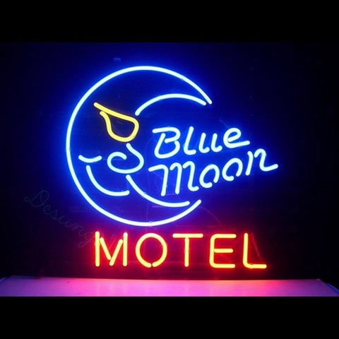 "Desung Blue Moon Motel Neon Sign business 118BS055BMM 1568 18"" motel"