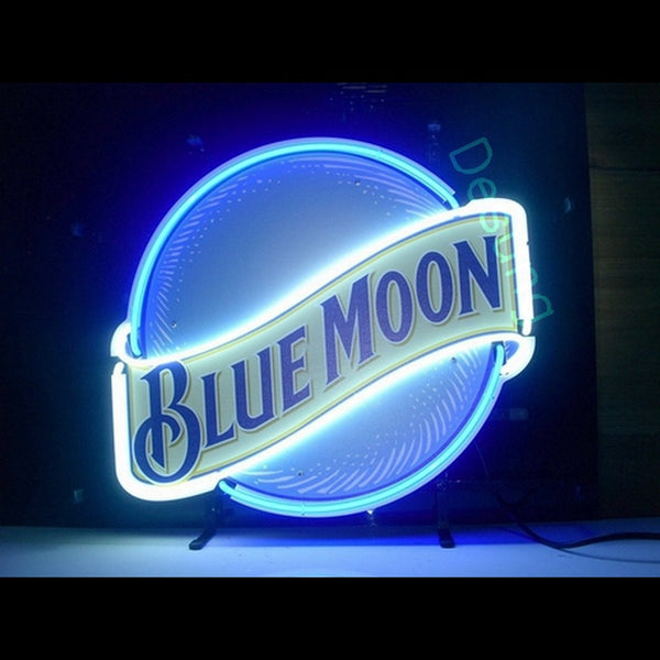 Desung Blue Moon Neon Sign alcohol bar beer