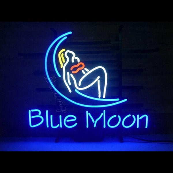 "Desung Blue Moon Neon Sign business 118BS050BM 1563 18"" bar"