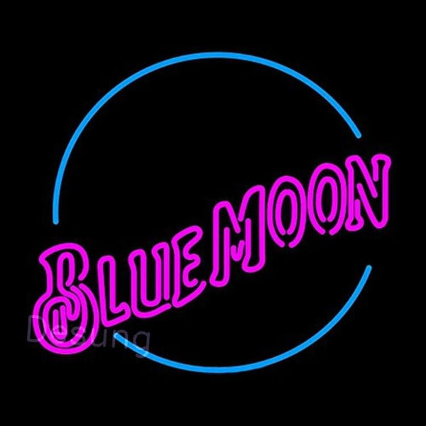 "Desung Blue Moon Pink Neon Sign alcohol 120BR318BMP 1831 20"" beer bar"