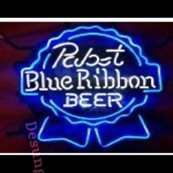 "Desung Blue Ribbion Pabst Blue Ribbon Neon Sign alcohol 117BR494BRP 2007 17"" beer bar"