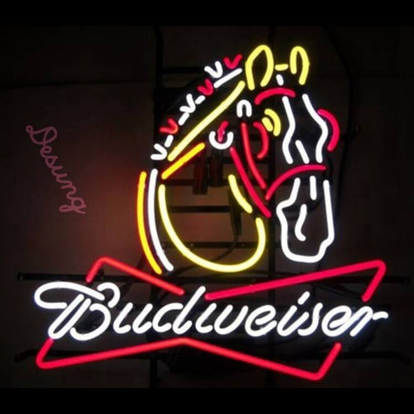 Budweiser Clydesdales Horse beer alcohol Neon Sign