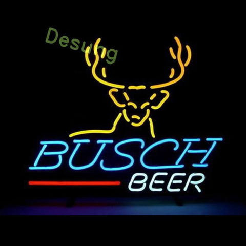 "Desung Busch Beer Neon Sign alcohol 118BR228BBN 1741 18"" beer bar"