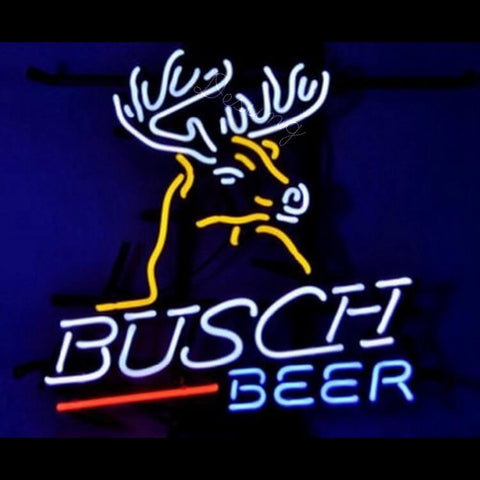 "Desung Busch Light Deer Neon Sign alcohol 118BR116BLD 1629 18"" beer bar"