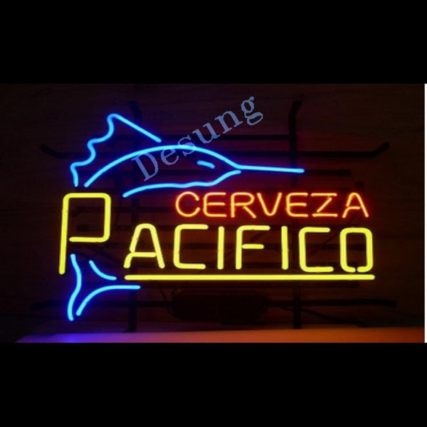 "Desung Cerveza Pacifico Neon Sign alcohol 117BR469CP 1982 17"" beer bar"