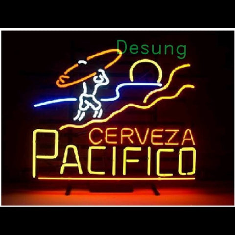 "Desung Cerveza Pacifico Surfing Neon Sign alcohol 117BR503CPS 2016 17"" beer bar"