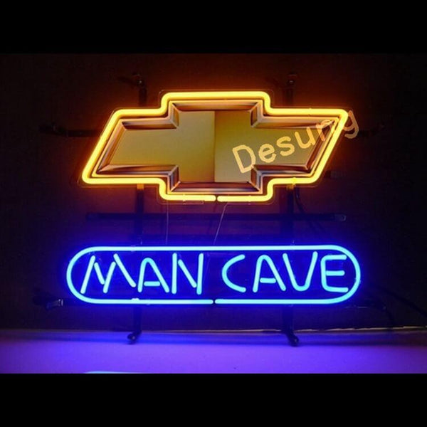 Desung Chevrolet Chevy Man Cave Neon Sign auto 118MC076CCM  1589  18""