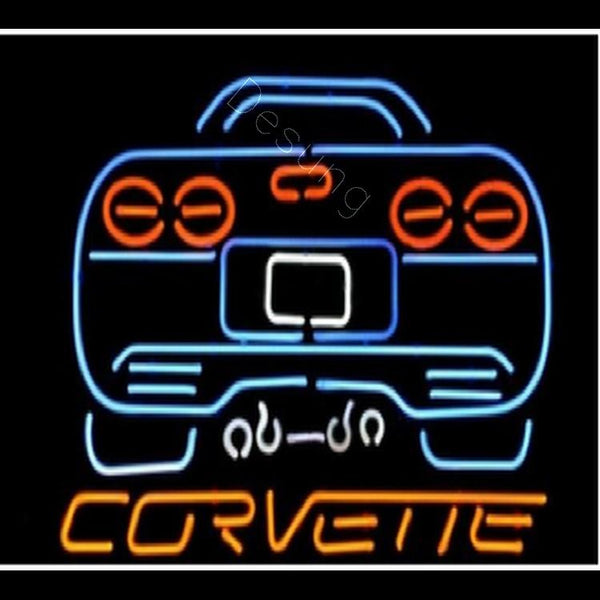 Desung Chevy Corvette sports car Neon Sign auto 117AM563CCS 2076 17""