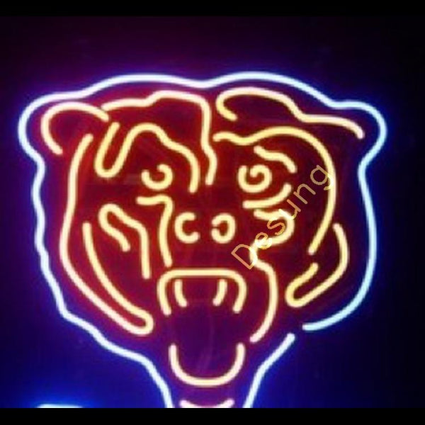 "Desung Chicago Bears Neon Sign sports 117SP546CB 2059 17"" football"