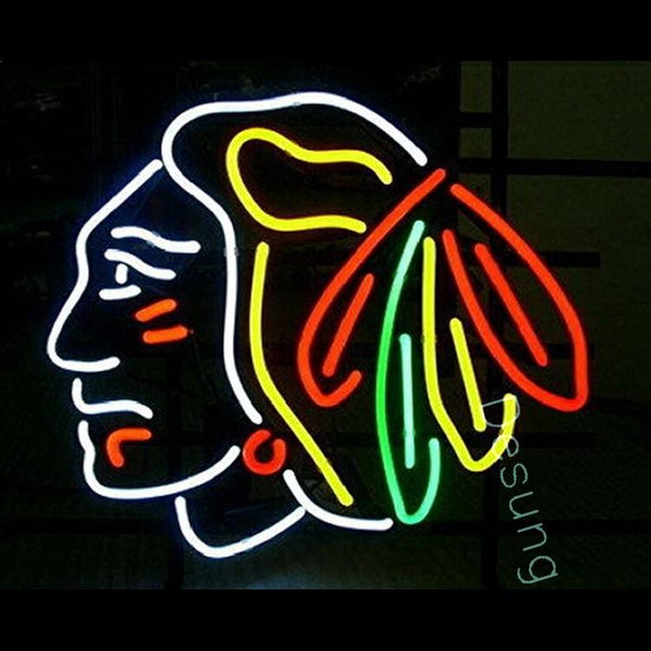 "Desung Chicago Blackhawks Neon Sign sports 120SP178CBN 1691 20"" hockey"